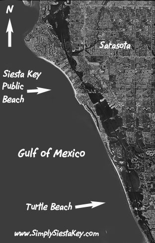 Sarasota & SIESTA KEY vue satellite