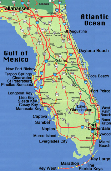 obryadii00: state map of florida with cities on map of northern florida with cities, map of central florida with cities, map of gulf of mexico with cities,