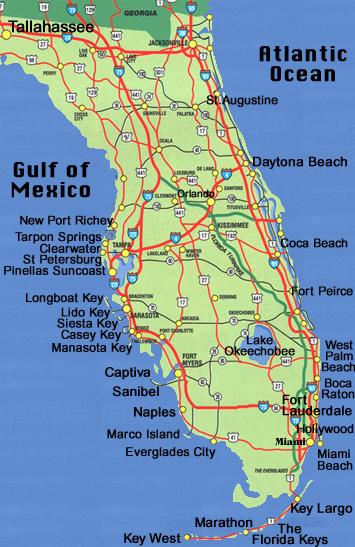 Tourist Map Of Florida.Map Of Florida Sarasota Vacation Accommodations Guide Travel